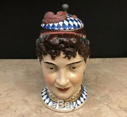 Vintage Thewalt Bavarian Women's Head German Character Figural Beer Stein