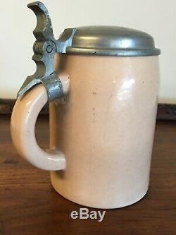 WWII German Beer Stein Christmas 1937 Owner Hans Albrecht Original Vintage