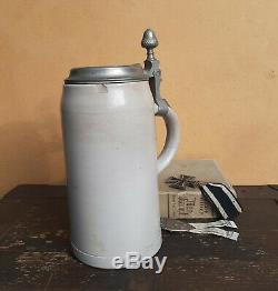 WWII German Stormtroopers Beer Stein Munich Beer Hall Putsch Genuine Bürgerbrau
