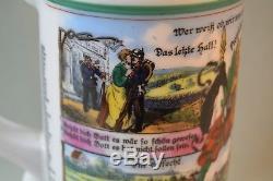 World War I German Beer Stein With A Lithophane Commemorating Garrison Bowtzens