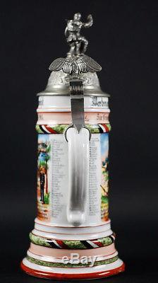 Wwi German Military Regimental Beer Stein 1905