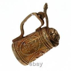 Yellow Gold German Toast Beer Stein Charm 14k Germany Souvenir Pendant Opens